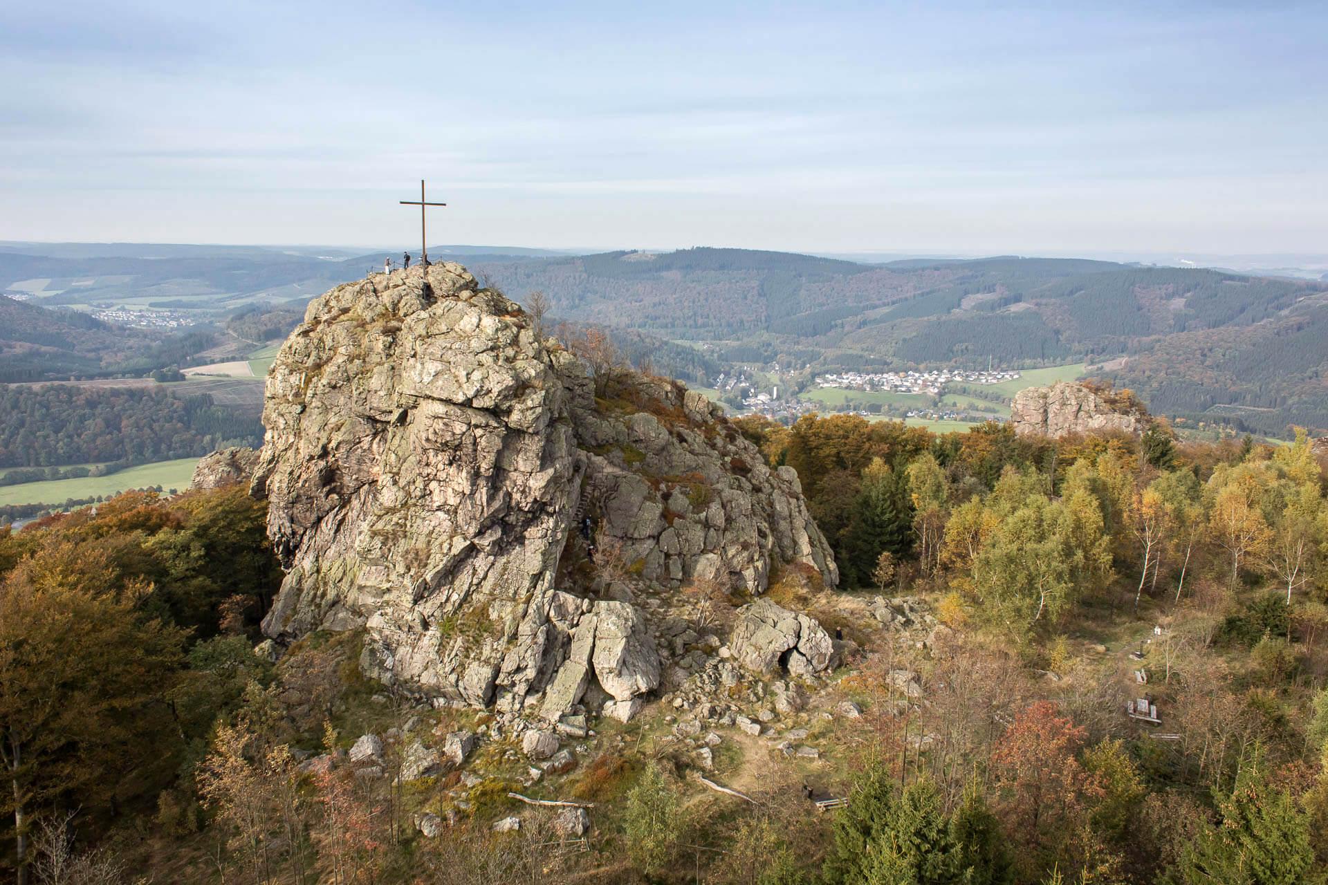 Feldstein Luftaufnahme - Bruchhauser Steine