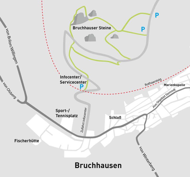 Karte Bruchhausen Umgebung